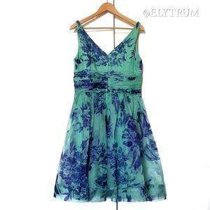 Anthropologie Dresses - Anthropologie Elevenses Silk Organdy Tea Dress